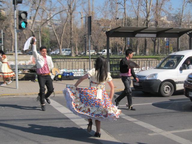 Santiago de Chile cueca dancers